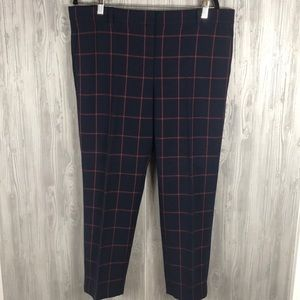 Ann Taylor NWOT 14 windowpane plaid pants